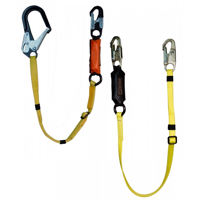 "827-12 Adjustable Length Lanyards with 2 1/2"" Aluminium Ladder Hook"